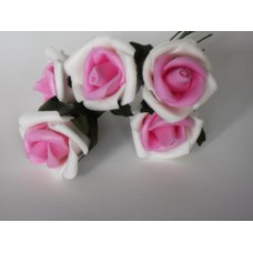 Bunch of roses  -  white/pink